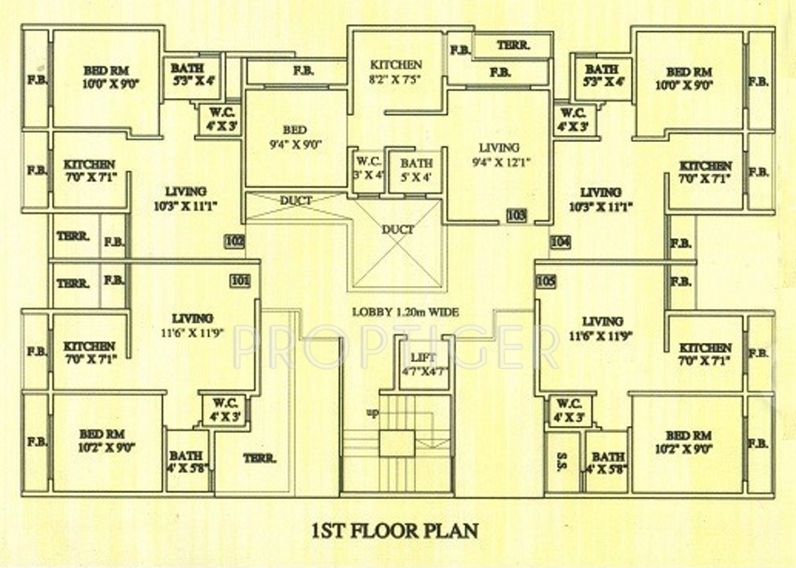 640 sq ft 1 bhk 1t apartment for sale in aashirwad builder for Builder s pride flooring