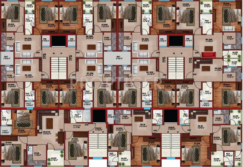 Images for Cluster Plan of Allure Aadya Tower