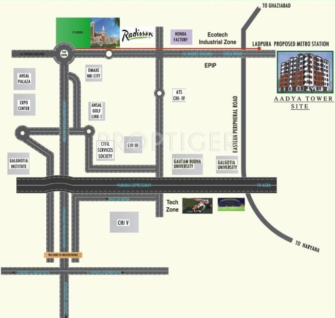 Images for Location Plan of Allure Aadya Tower
