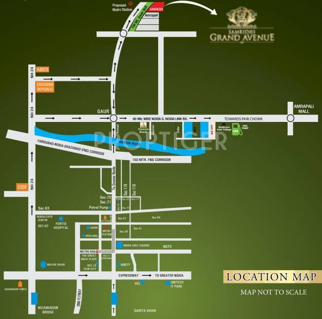 grand-avenue Images for Location Plan of Samridhi Grand Avenue