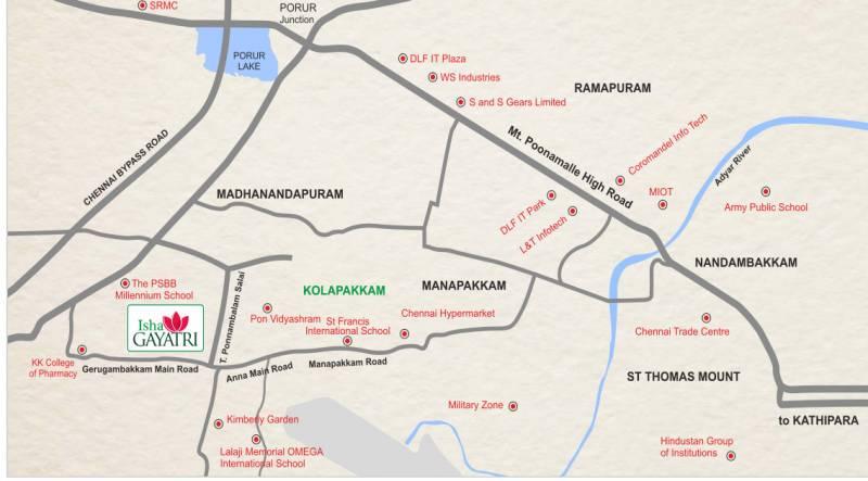 gayatri Images for Location Plan of Isha Gayatri