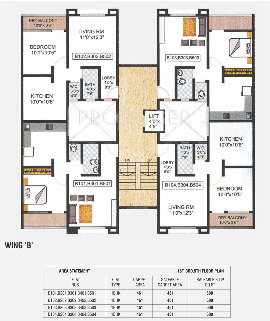 600 sq ft 1 bhk 1t apartment for sale in avani housing for Apartment cluster plans