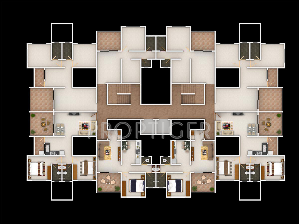 632 Sq Ft 1 Bhk 1t Apartment For Sale In Swati