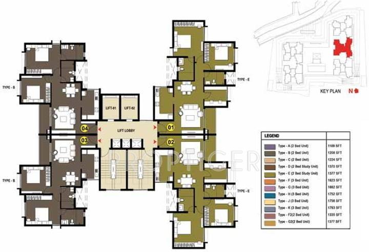 Images for Cluster Plan of Prestige Gulmohar