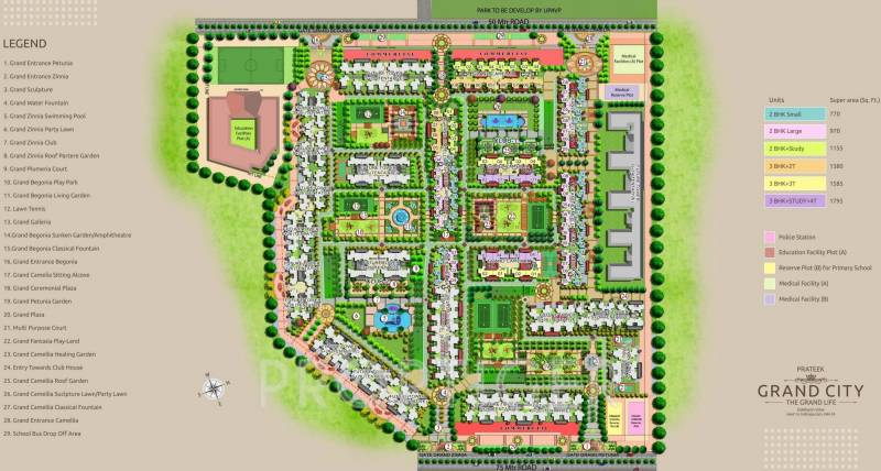 Images for Layout Plan of Prateek Grand Carnesia