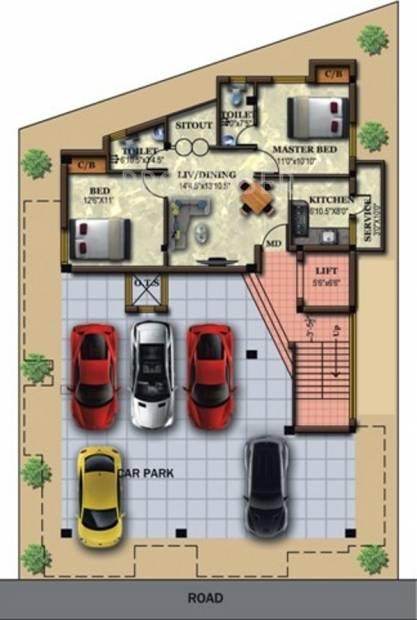 Images for Cluster Plan of Vaikund Srishti