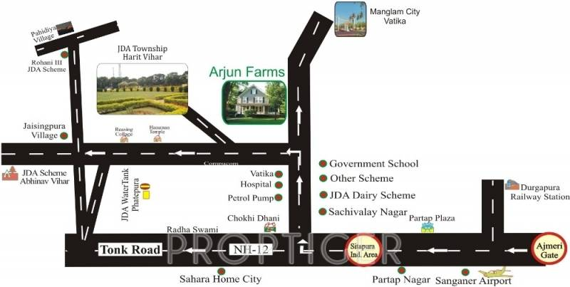 dharti-developers arjun-farms Location Plan