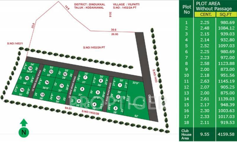 periyar-realtors meenakshi-orchards Layout Plan
