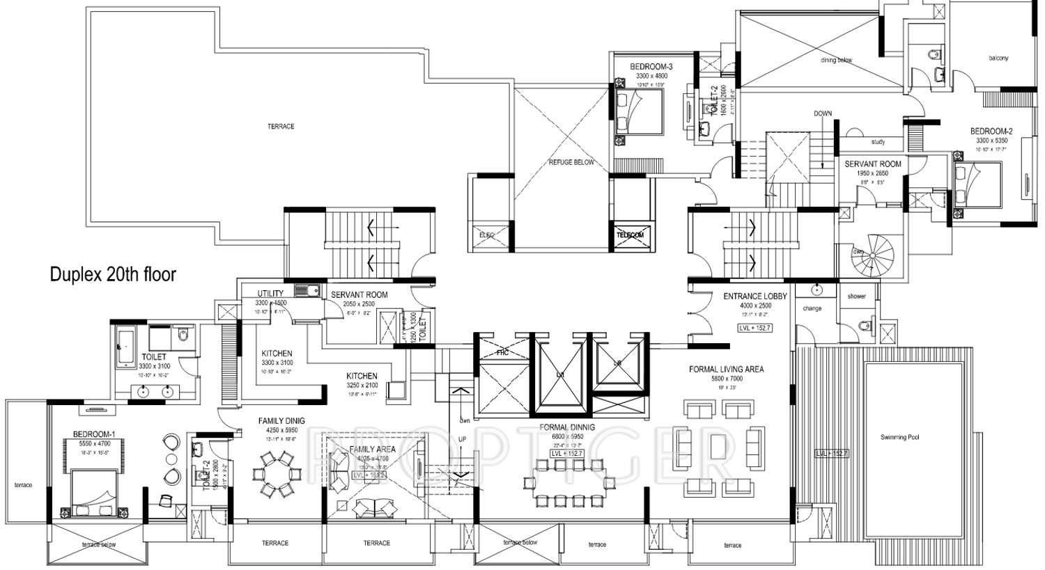 8000 sq ft 4 bhk 4t apartment for sale in sobha limited for Floor plans 8000 sq ft