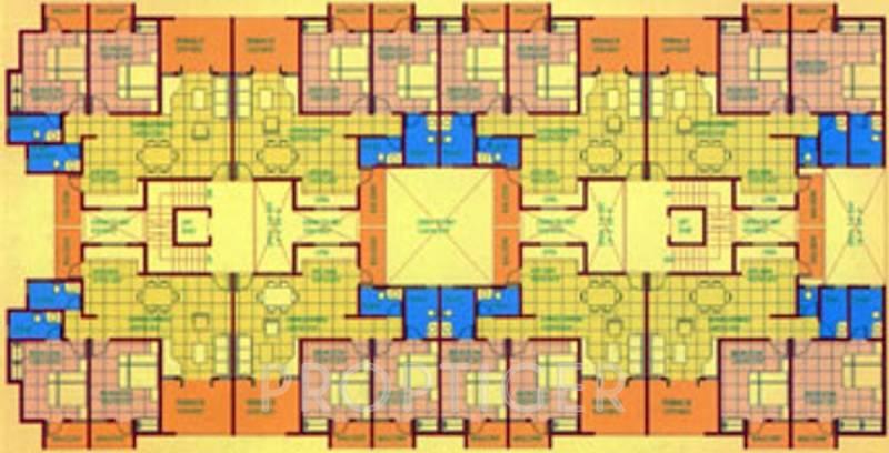 Images for Cluster Plan of Sanghvi Suncity Flats
