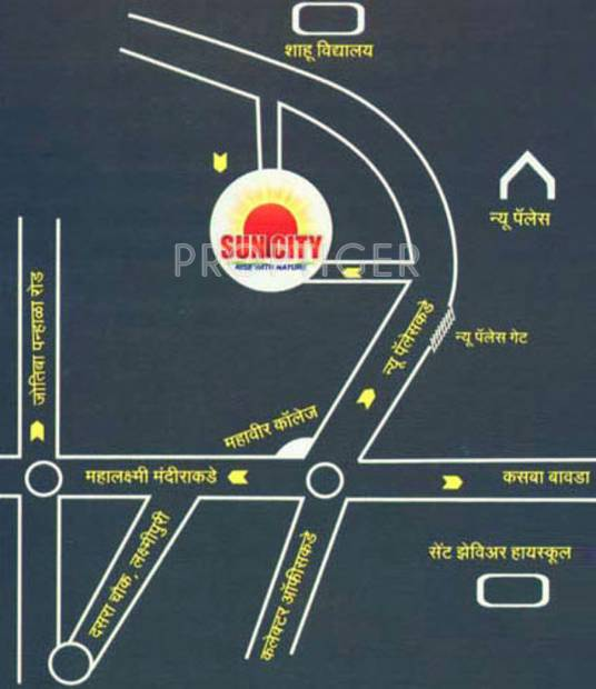 Images for Location Plan of Sanghvi Suncity Flats