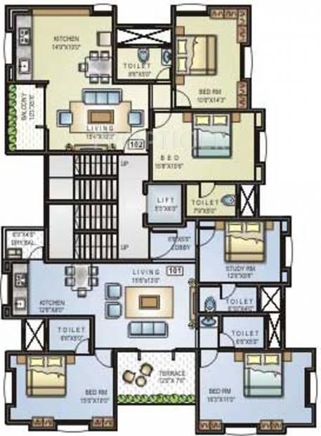 Images for Cluster Plan of Shreeraj Realtors One