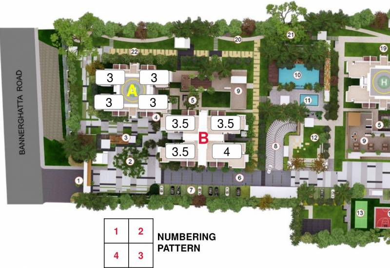 windchimes Images for Site Plan of Mahindra Windchimes