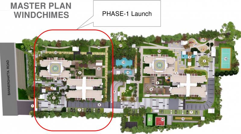 Images for Master Plan of Mahindra Windchimes