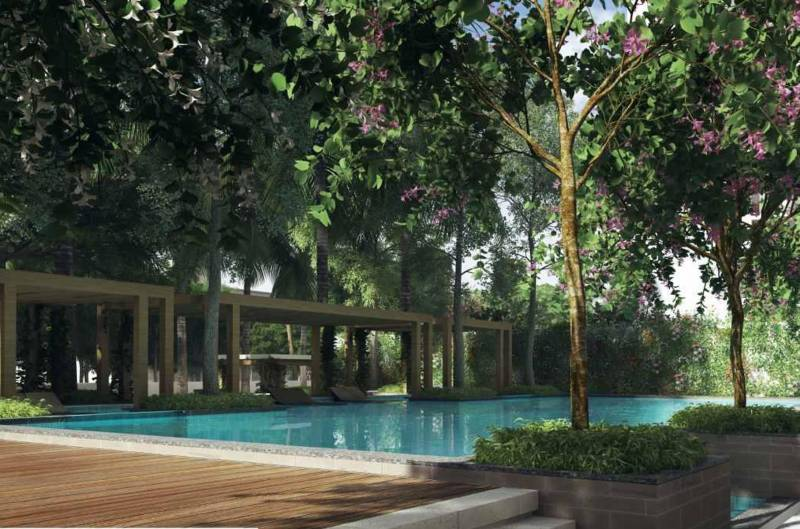 Image Of Swimming Pool Of Mahindra Lifespaces Developers