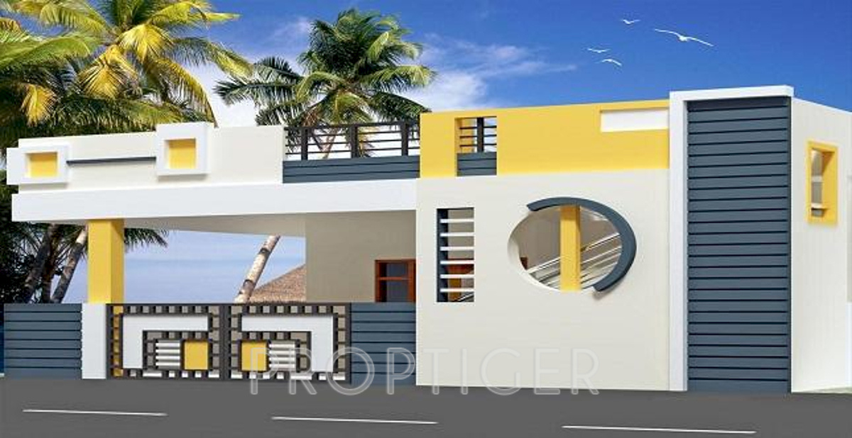 Front Elevation Ground Floor Furnished : Main elevation image of rainbow constructions houses