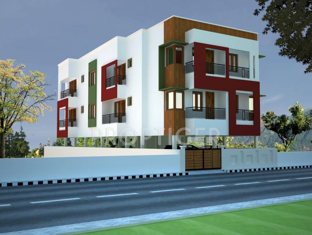 2 Floor Apartment Elevation : Lakshmi venkateswara nagar in velachery chennai price