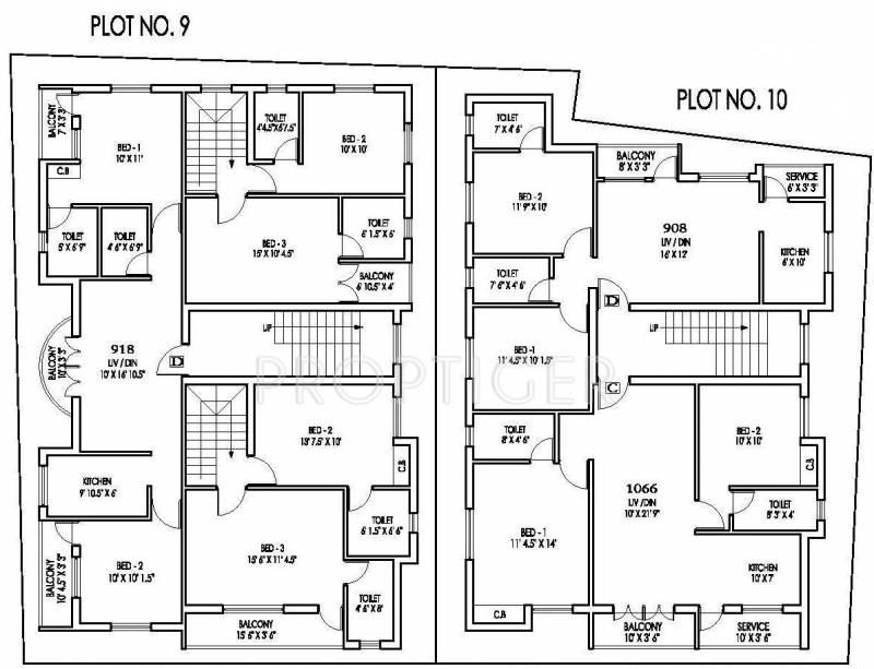 mahalakshmi manappakkam Plot 9 &10 Cluster Plan for 2nd Floor