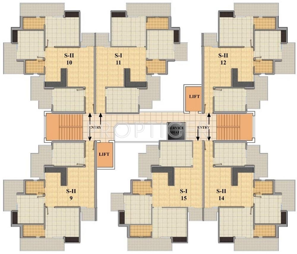 1390 sq ft 3 bhk 2t apartment for sale in ska green for 17 th floor