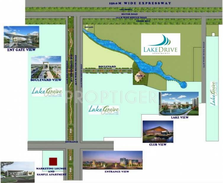 Site Plan Image Of Tdi Lake Drive Kundli Sonepat
