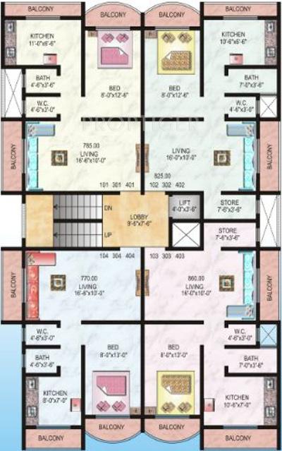 770 Sq Ft 1 Bhk 1t Apartment For Sale In Raj Chamunda