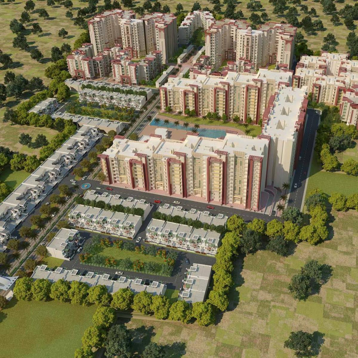 Niho Scottish Gardens Apartments In Ram Ganga Vihar Moradabad Price Location Map Floor Plan