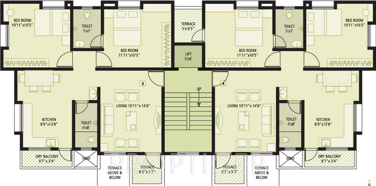 1555 sq ft 2 bhk 2t apartment for sale in achalare for Floor plans for realtors