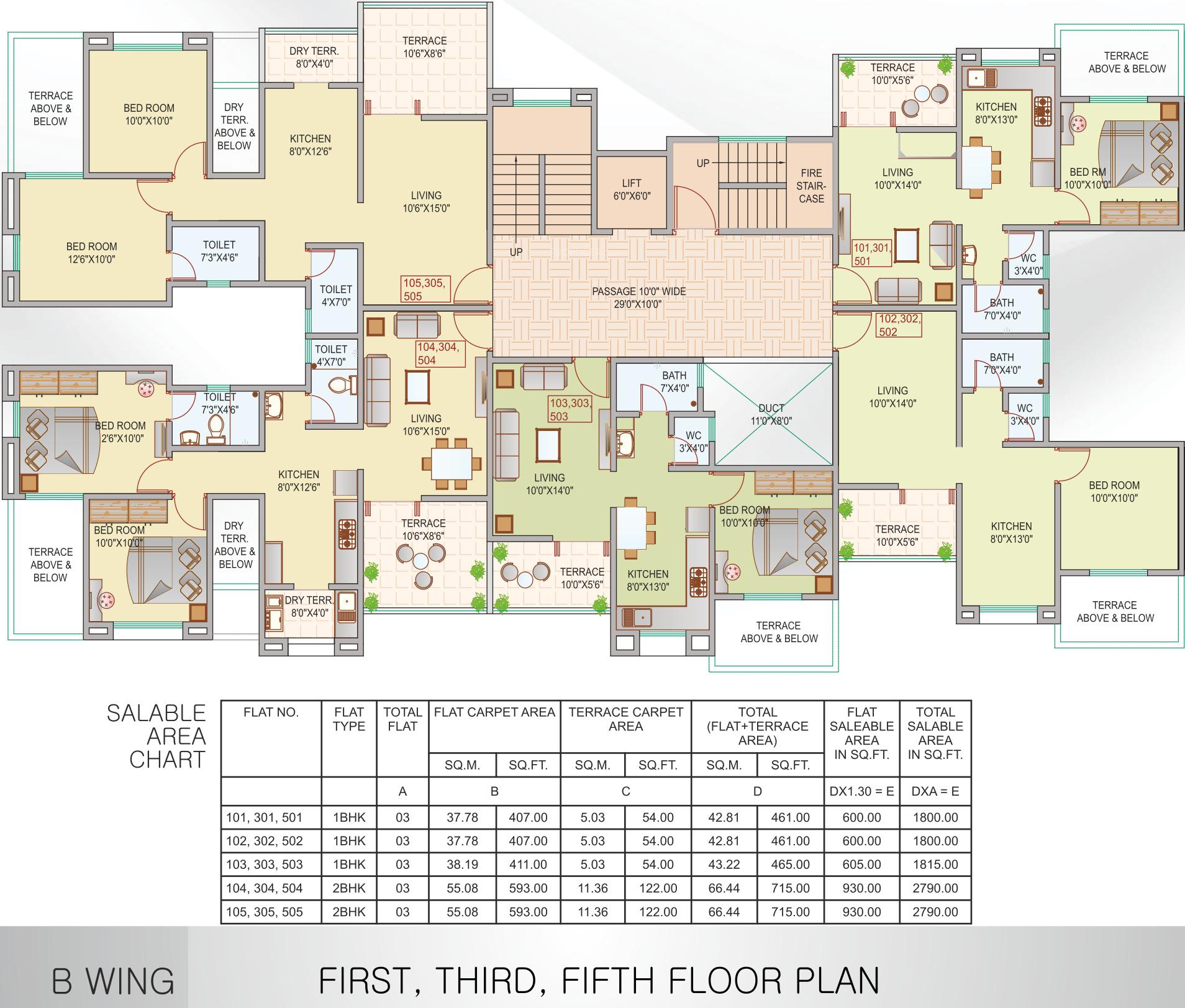 Kamal the wave in wakad pune price location map floor for Floor 5 map swordburst 2