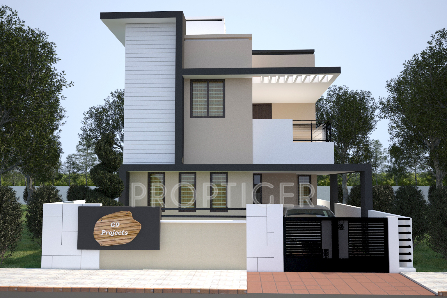 Front Elevation Designs 24 Feet Wide : Sq ft bhk t villa for sale in g spacious