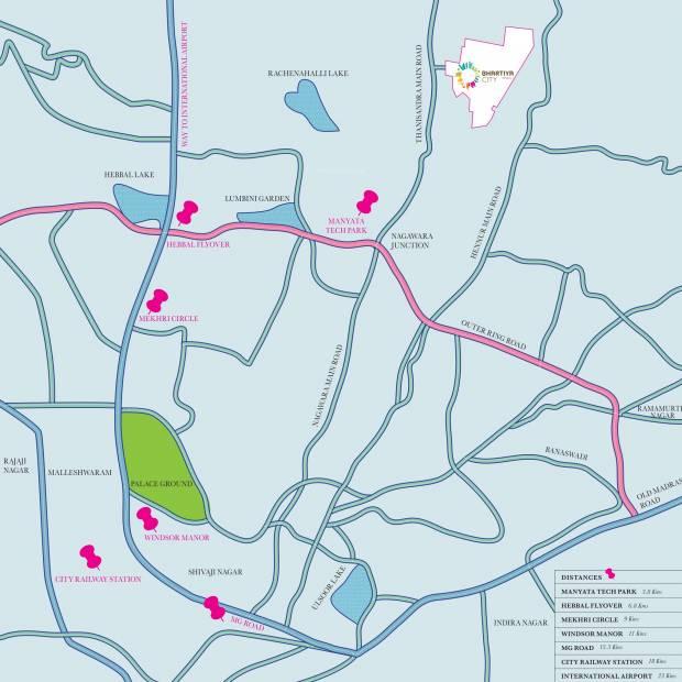Images for Location Plan of Bhartiya Leela Residences