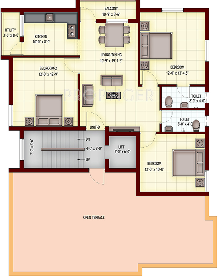 1100 sq ft 2 bhk 2t apartment for sale in aashirwad for 1100 sq ft apartment floor plan