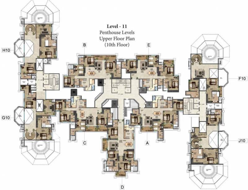 Images for Cluster Plan of Prestige Leela Residences