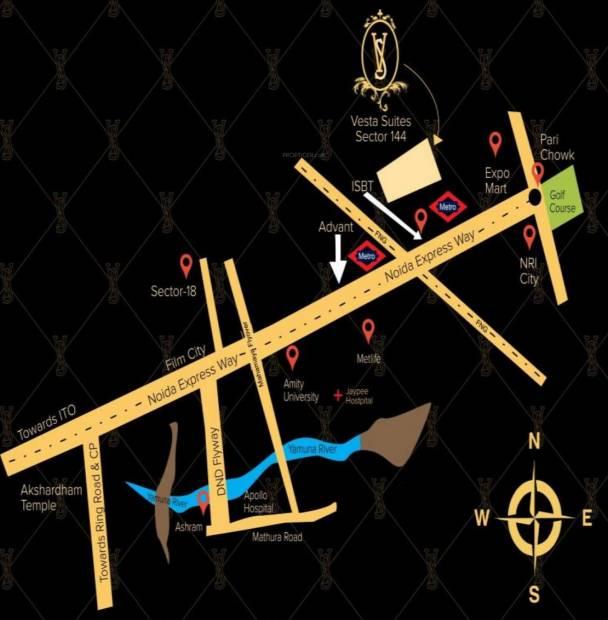 Images for Location Plan of Unnati Vesta Suites