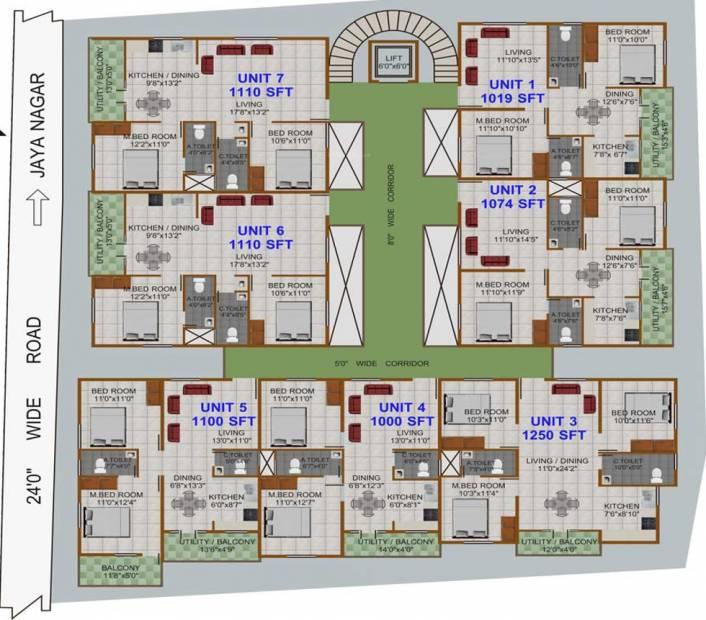 Images for Cluster Plan of Prabhavathi Sri Krishna