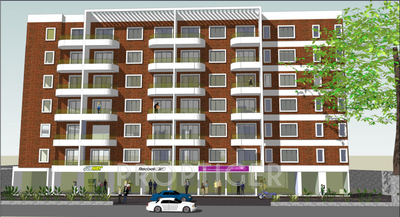 Apartment Front Elevation Photos : Sq ft bhk t apartment for sale in presidency viva