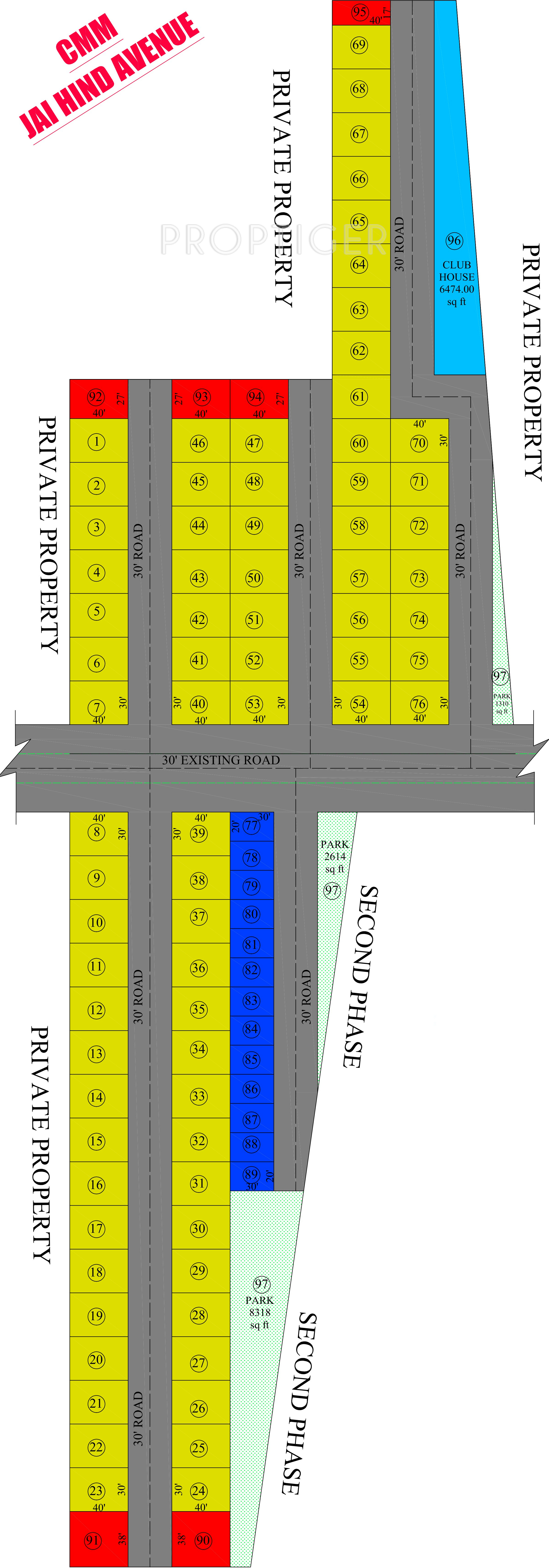 600 Sq Ft Plot For Sale In Cmm Groups Jai Hind Avenue