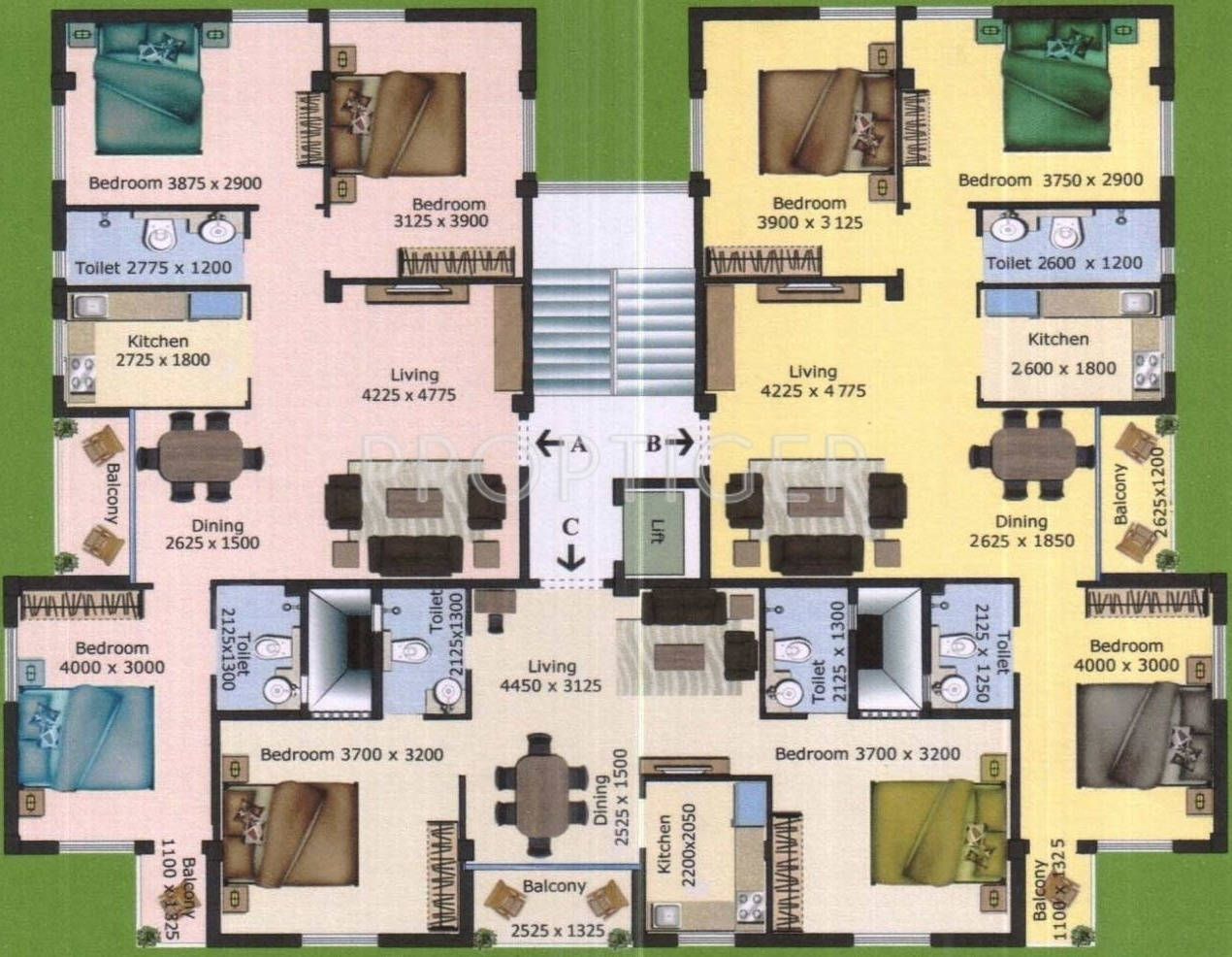 913 Sq Ft 2 Bhk 2t Apartment For Sale In Jasmine Group