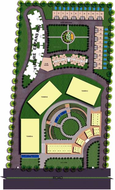 trikaya-golf-ville Images for Site Plan of Urbainia Trikaya Golf Ville