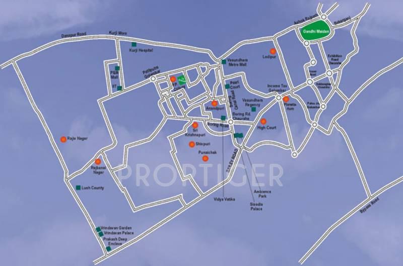 vasundhara-group le-grassia Location Plan