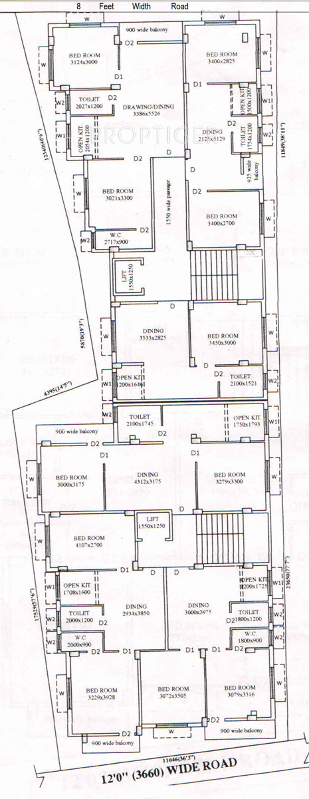 578 Sq Ft 1 Bhk 1t Apartment For Sale In Ss Traders