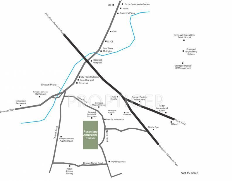 Images for Location Plan of Paranjape Abhiruchi Parisar