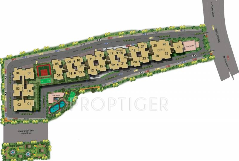 promenade Images for Master Plan of Mahaveer Promenade