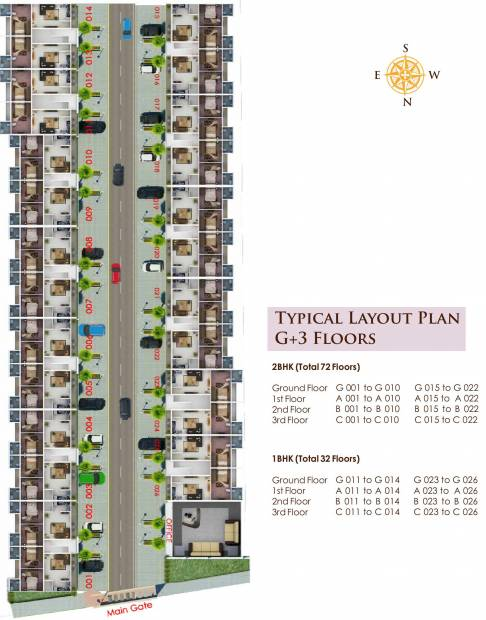 Images for Cluster Plan of Suparas Kalmia Floors