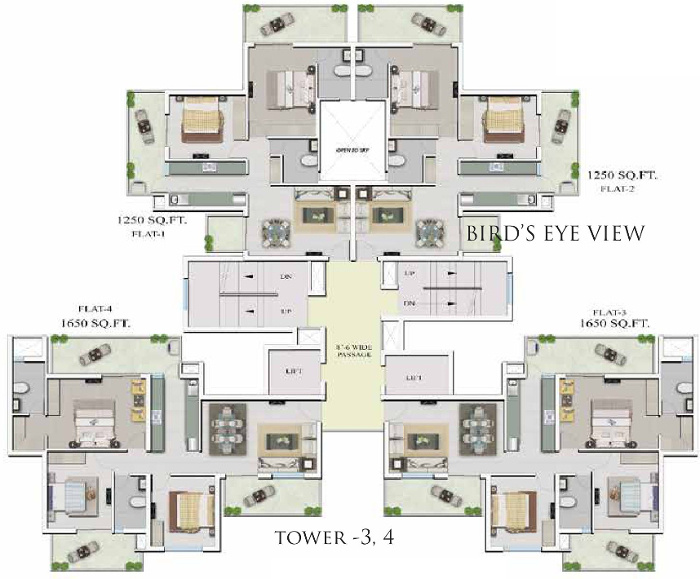 Images for Cluster Plan of Supertech Hillview Apartments