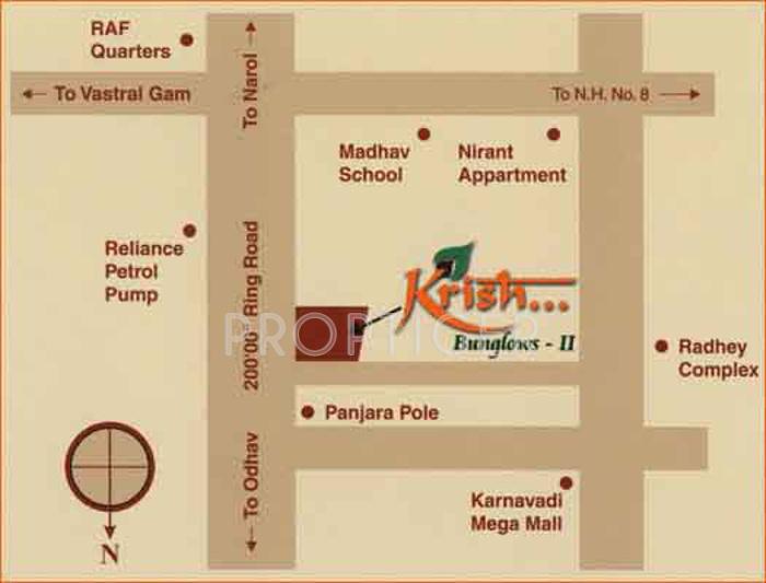 Images for Location Plan of Savaliya Builders Krish Banglows II
