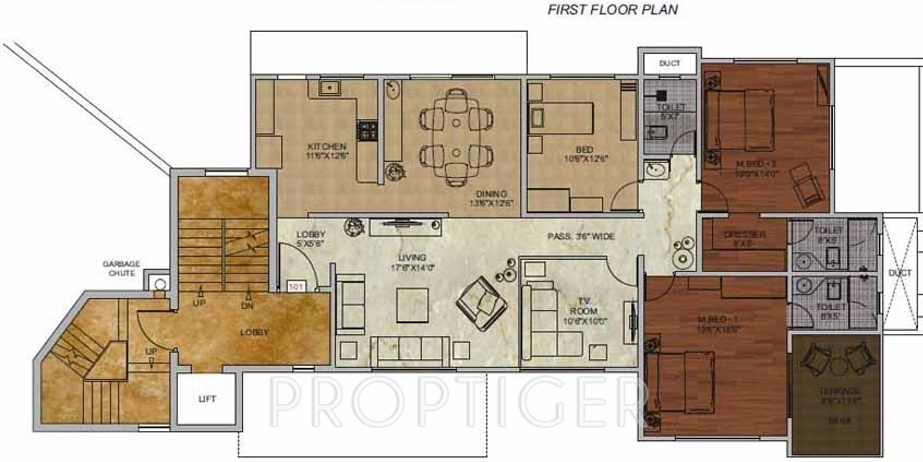 2500 sq ft 4 bhk 4t apartment for sale in taksheel group for Apartment floor plans 2500 sq ft