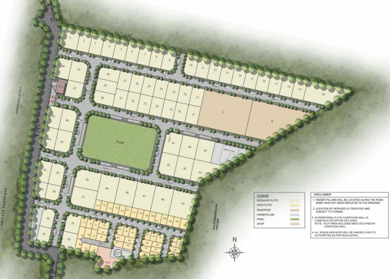 Images for Layout Plan of Sobha Evergreen Plots