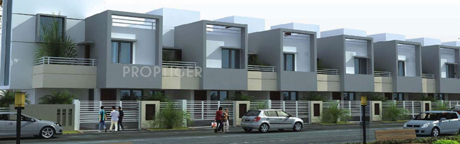 Single Floor Row House Elevation : L g greenfield row houses in wanadongri nagpur price