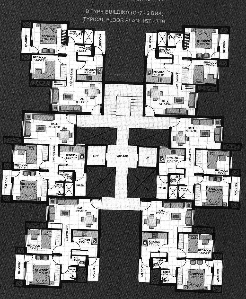 720 sq ft 2 bhk 2t apartment for sale in saptagiri tech for 720 sq ft apartment floor plan