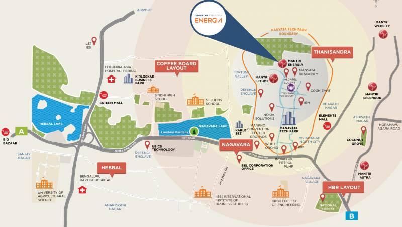Images for Location Plan of Mantri Manyata Energia
